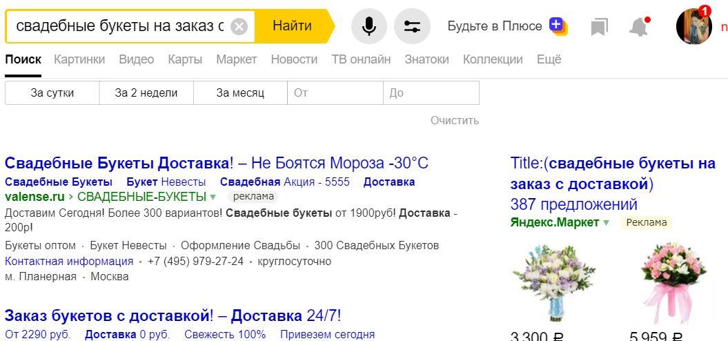 количество показов в Яндекс низкочастотных запросов